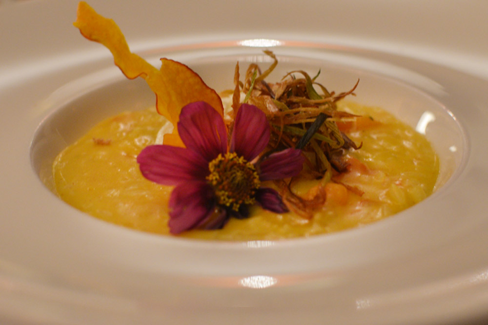 seasonal food zurich, fine dining zurich, goats cheese risotto
